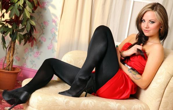 Picture feet, shoes, tights, brown hair, natalia kalashnikov