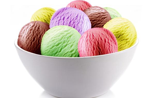 Picture ice cream, dessert, bowl, cuts