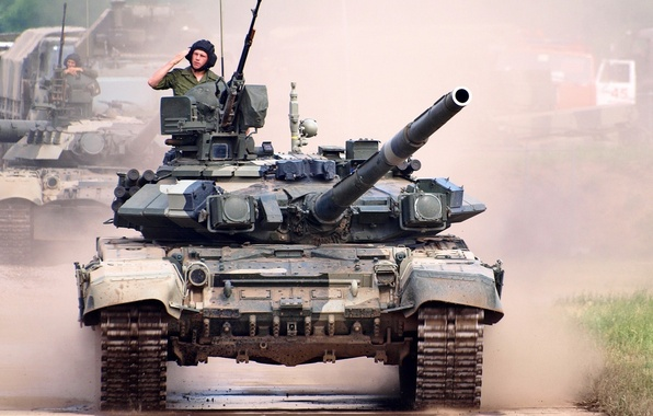 Picture tank, T-90, tanker, the main battle tank of the Russian Federation