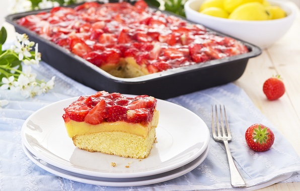 Picture berries, strawberry, pie, cakes, Strawberry, sweet, delicious, dessert, berries, Sweet, Cakes