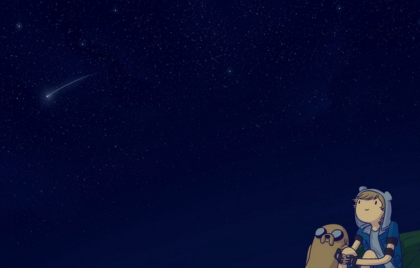 Picture The sky, Stars, Sky, Space, Jake, Cartoon, Jake, Adventure Time, Fin, Adventure Time, Cartoon, Finn