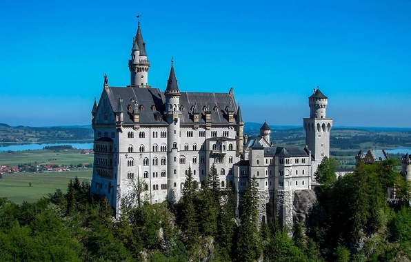 Picture castle, Germany, Bayern, Neuschwanstein, Neuschwanstein, castle