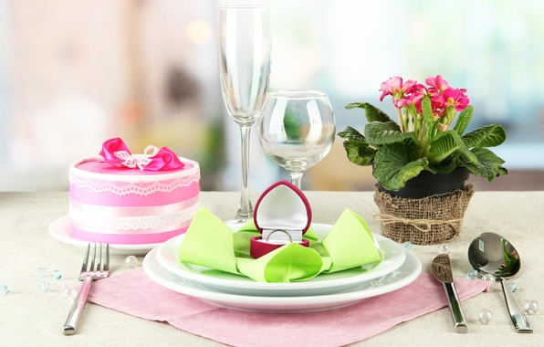 Picture FLOWERS, GIFT, DISHES, OFFER