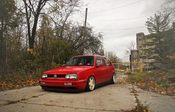 Picture red, volkswagen, red, Golf, golf, Volkswagen, MK3