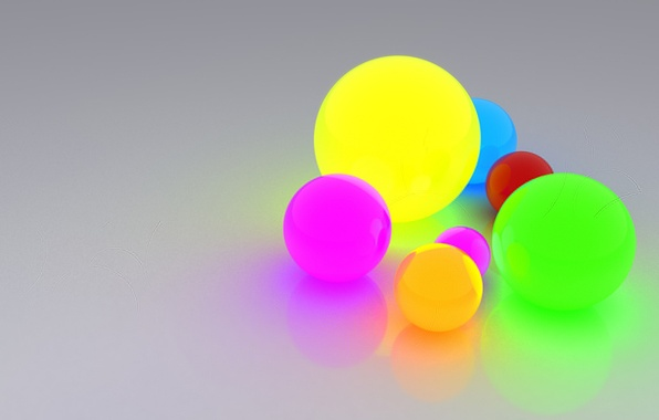Picture light, reflection, balls, bright