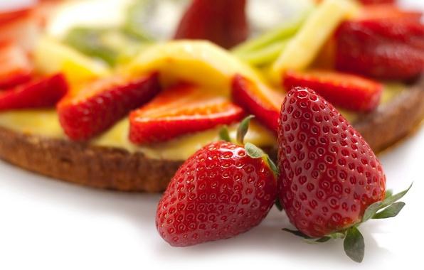 Picture food, strawberry, pie, cake, dessert, food, sweet, sweet, 1920x1080, strawberry, dessert