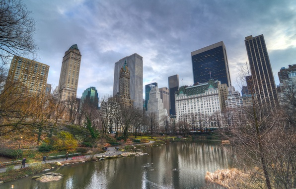 Picture autumn, the city, Park, building, New York, skyscrapers, USA, USA, megapolis, NYC, New York City