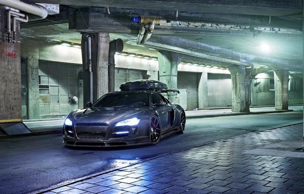 Picture Audi, audi, Parking, carbon, night, carbon, parking