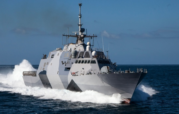 "Picture sea, ship, combat, coastal, USS Freedom, ""Freedom"", (LCS-1)"