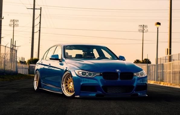 Picture BMW, blue, F30, Sedan, 3 Series