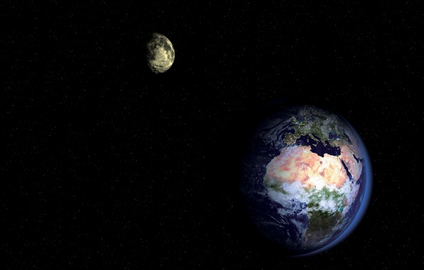 Picture earth, moon, star, planet, satellite