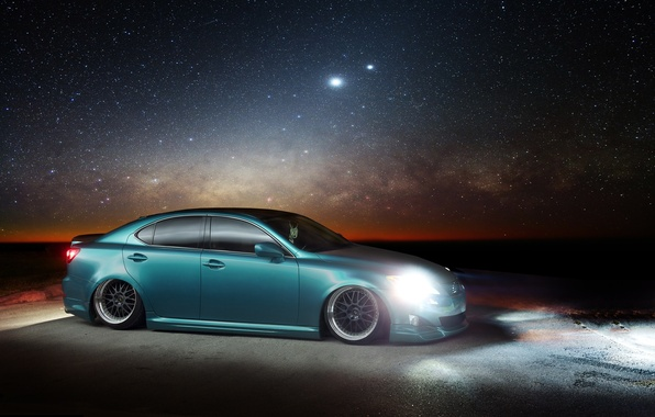 Picture stars, Lexus, Lexus, night, IS. profile
