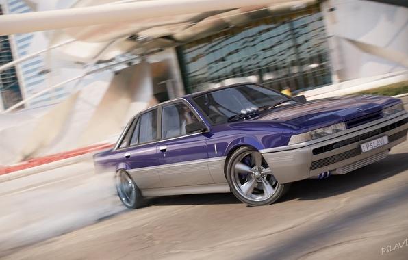 Picture realism, smoke, speed, drift, car, slide