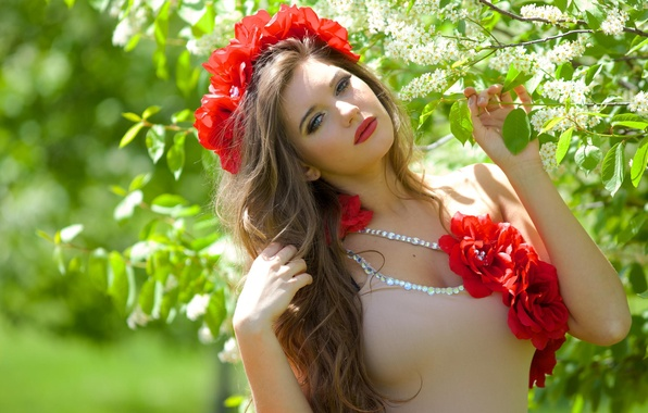 Picture Girl, Nature, Beautiful, Model, Flowers, Summer, Photography, Hair, Roxy