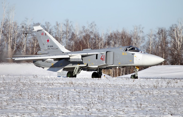 Picture the plane, bomber, the rise, Su-24, frontline, The Russian air force