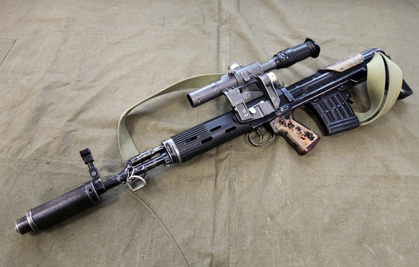 Picture weapons, Russia, rifle, sniper, self-loading, SVU-AS, layout bullpup