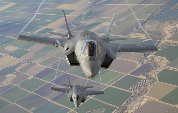 Picture flight, earth, fighters, bombers, Lightning II, F-35B