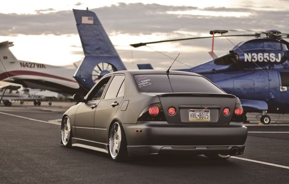 Picture helicopter, lexus, toyota, Lexus, Toyota, height, is300, Altezza