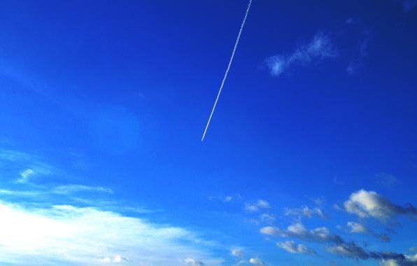 Photo wallpaper the sky, the plane, sky, blue, airoplan, Gatchina