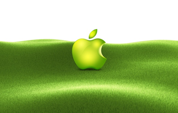 Picture grass, apple, mac