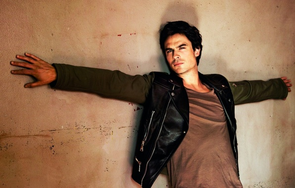 Picture wall, jacket, the series, guy, actor, the vampire diaries, ian somerhalder, damon, the vampire diaries, …