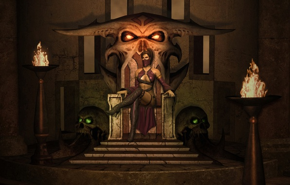 Picture the throne, mortal kombat, mileena, milina
