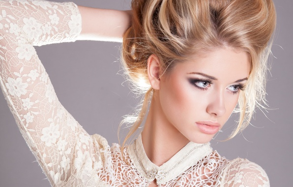 Picture look, girl, model, hair, hands, makeup, hairstyle