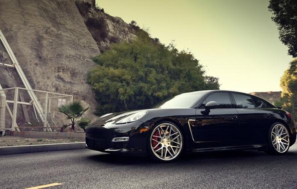 Picture road, Porsche, Panamera, drives, Porsche, Panamera