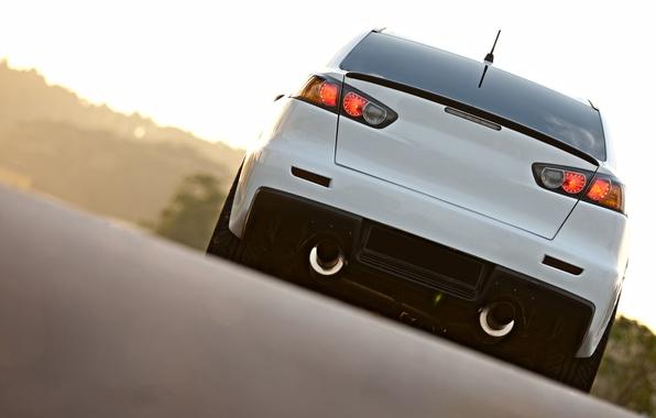 Picture car, white, mitsubishi, jdm, lancer, evo, evlution