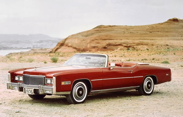 Picture background, Eldorado, Cadillac, the front, 1976, Convertible, Cadillac, Fleetwood