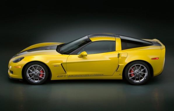 Picture yellow, Chevrolet, Corvette GT1