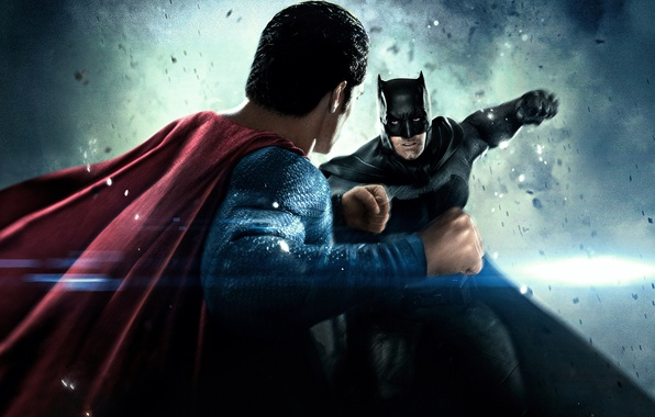 Photo Wallpaper Fiction The Opposition Battle Fight Batman Ben Affleck