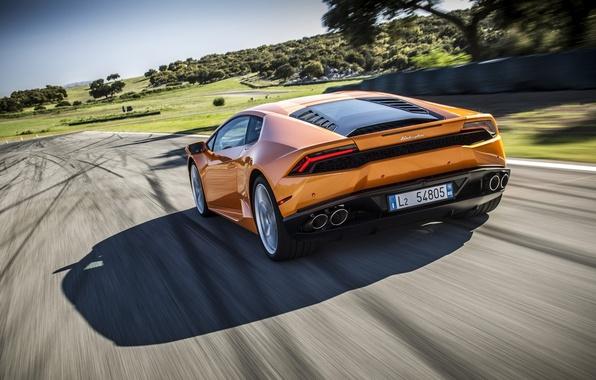 Picture Lamborghini, Track, Hurricane, Supercar, Lamborghini, Huracan