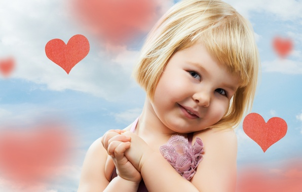 Picture children, child, heart, girl, cute, happy, hearts, child, cute, children, little girl, happy