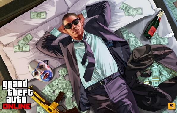 Wallpaper gangs online gta 5 money bandit images for desktop