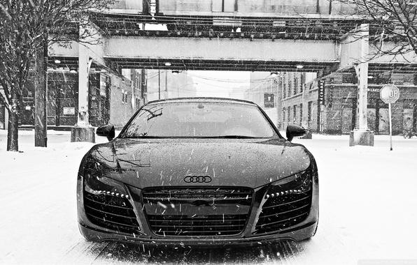 Picture Audi, Snow, Audi R8