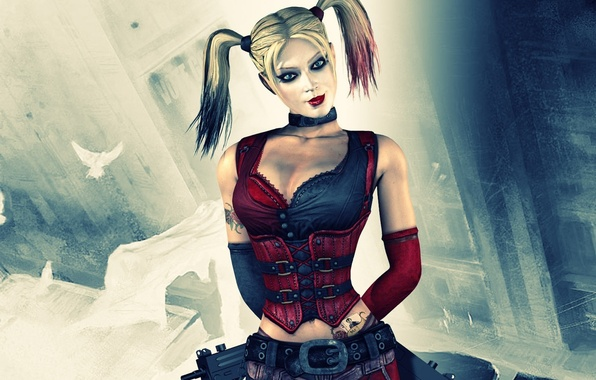 Picture batman, character, arkham city, harley quinn, Harley Quinn