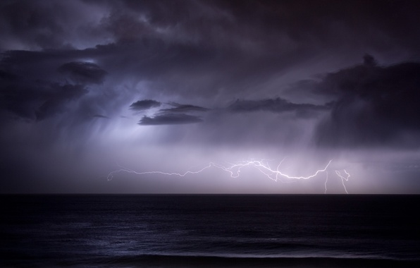 Picture rain, lightning, The storm
