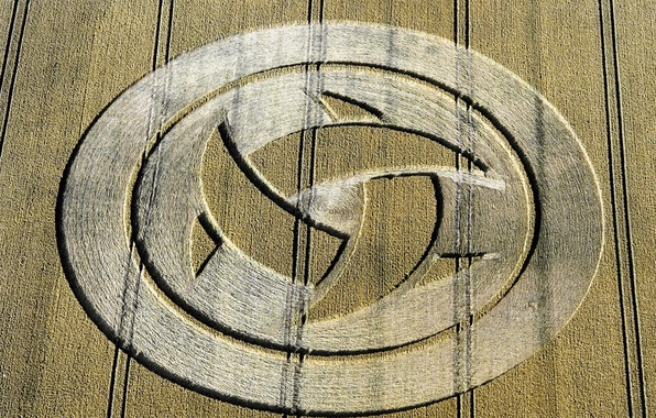 Picture field, nature, UFO, crop circles
