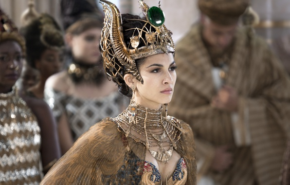 Photo wallpaper The Gods Of Egypt, Gods of Egypt, Elodie Yung, Elodie Yung, outfit, decoration, crown, fantasy