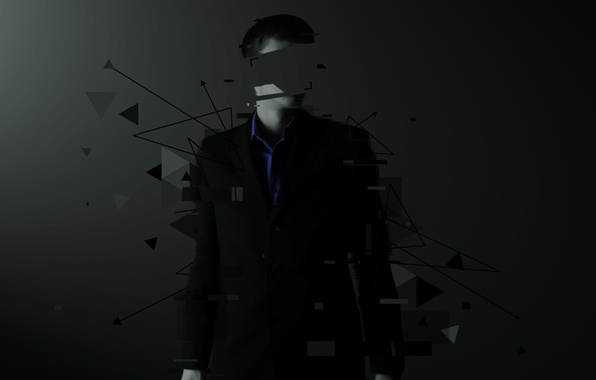 Picture abstraction, rendering, People, jacket, without a face