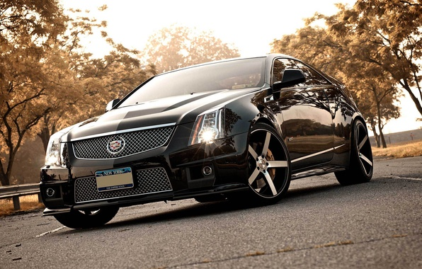 Picture black, Cadillac, black, CTS-V, Cadillac, the front part