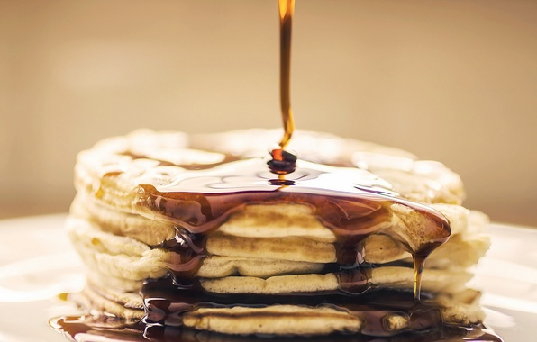 Picture food, pancakes, syrup