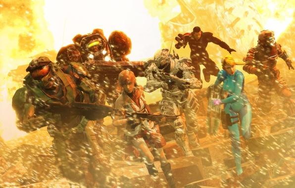 Picture game, Halo, starcraft 2, dead space, lightning, Mass Effect, Isaac Clarke, mass effect, Shepard, lightning, …