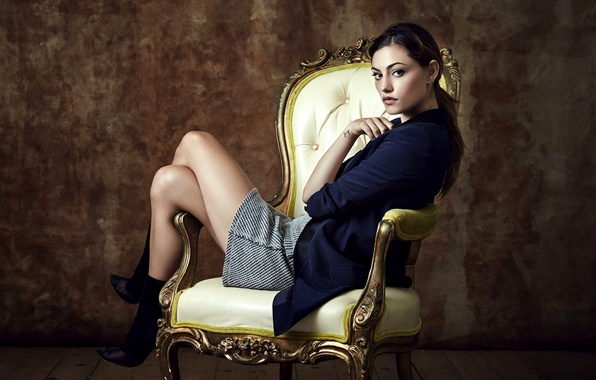 Picture girl, chair, actress, brunette, chair, the series, Phoebe Tonkin, Phoebe Tonkin, Hayley, Original, The Originals, ...