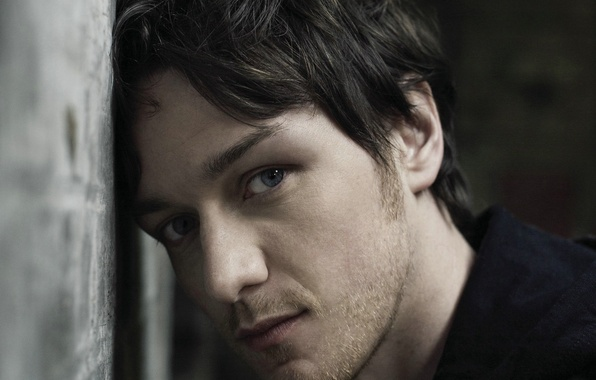 Picture eyes, look, face, wall, portrait, actor, bristles, James McAvoy, James McAvoy