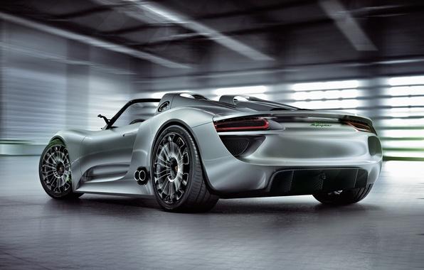 Picture Concept, Porsche, the concept, car, Spyder, 918, beautiful, back