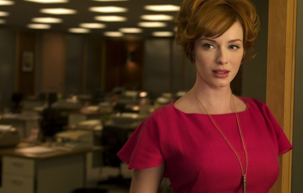 Picture woman, actress, red, Christina Hendricks, Go Harris