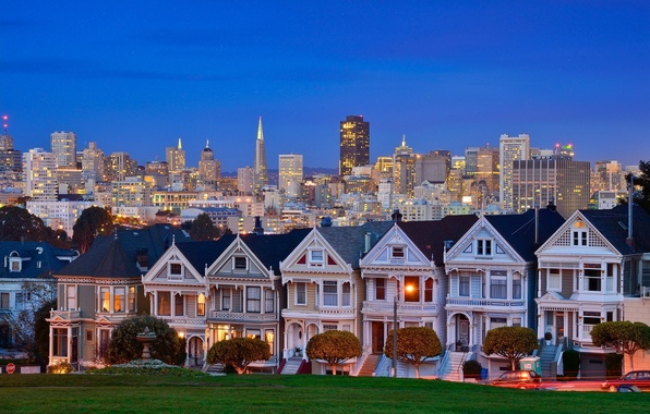 Picture United States, California, San Francisco, Alamo Square