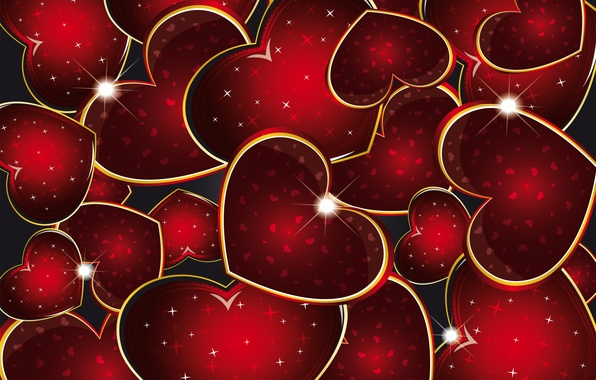 Picture background, hearts, red, love, background, romantic, hearts, valentine